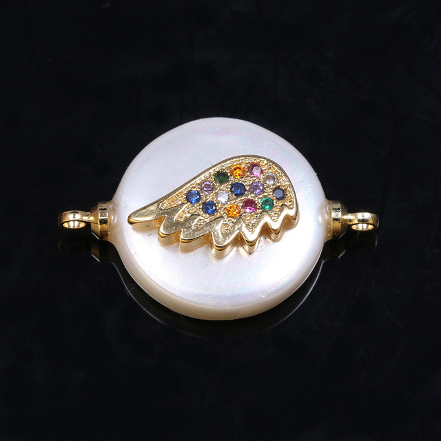 1 pièces pièce perle perles connecteur avec diamant pour collier Bracelet cheville couture artisanat bijoux accessoire fabrication