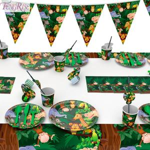 Image 2 - FENGRISE cartel de Aniaml para decoración de jungla, fiesta de cumpleaños, jungla, Fiesta Temática, fiesta de Safari, Baby Shower