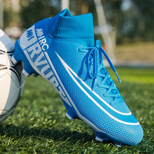 New Men Soccer Shoes Original Antiskid Football Boots Sneakers Man AG FG Soccer Cleats Kids Boys Football Shoes Training Shoes