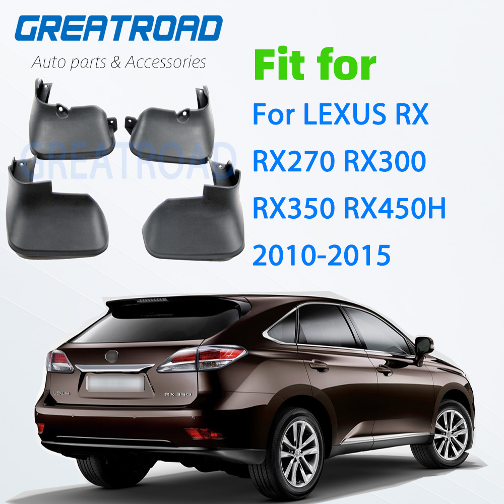 Aletas da lama do carro para lexus rx rx270 rx300 rx350 rx450h 2010-2015 respingo guardas mudflaps acessórios