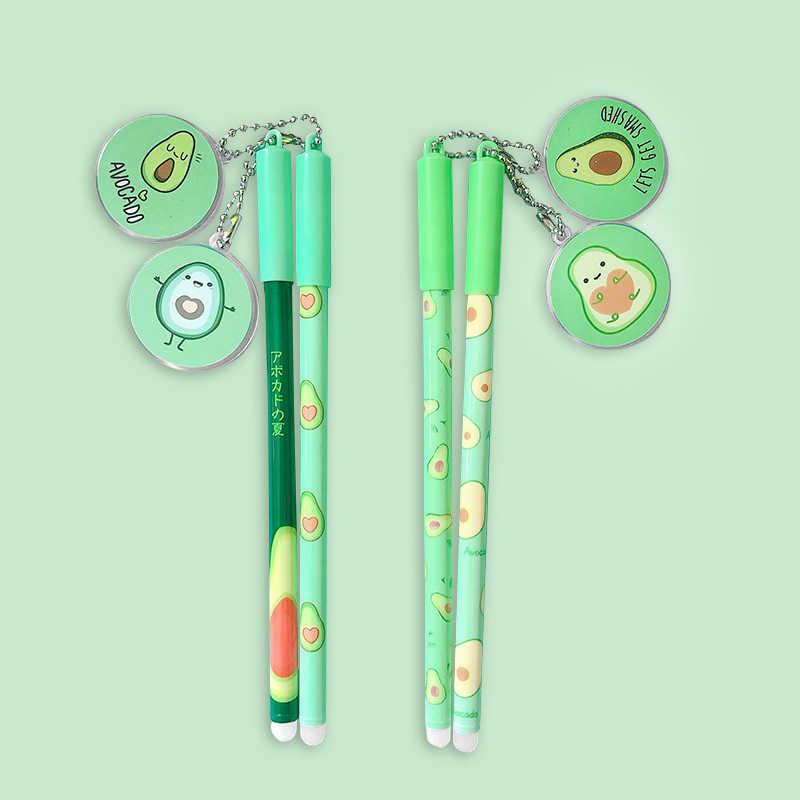 2 Pcs Kawaii Fruit Neutrale Pen Leuke Avocado Gel Pen 0.5Mm Blauw Inkt Pen Voor Kids Geschenken School kantoorbenodigdheden Supplies