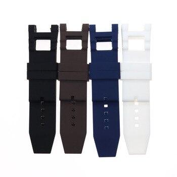 Correa de reloj de silicona negra y azul marrón de 28mm para invinict Subaqua Noma III, correa de reloj de 50mm, accesorios cómodos para cinturón