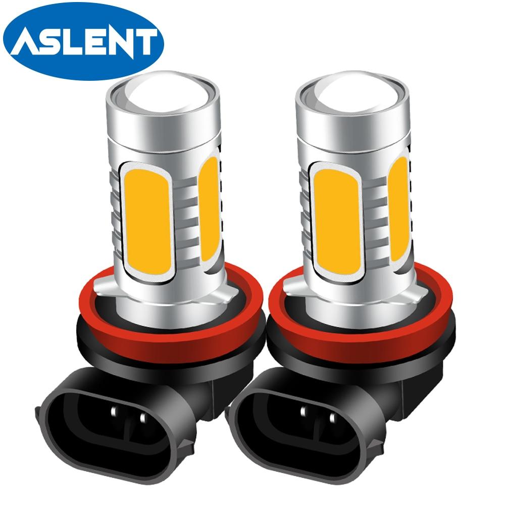 Uds H8 H11 LED HB3 9005 HB4 9006, 880 de 881 H1 H3 PSX26W PSX24W 2504 5202 H16 LED bombillas de luz antiniebla lámpara 2000LM 6000K blanco DC12V