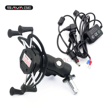 Phone Holder USB Charger For KAWASAKI ZX600 NINJA ZX-6RR ZX-14R ZZR1400 ZX14R ZX6R Motorcycle GPS Navigation Bracket Camera VCR x grip phone holder for kawasaki zx600 ninja zx 6rr zx 14r zzr1400 zx14r zx6rr motorcycle gps navigation bracket 16 19mm