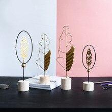Минималистичные кованые поделки из перьев Статуэтки из цельного дерева, украшение для спальни, украшение для гостиной, аксессуары