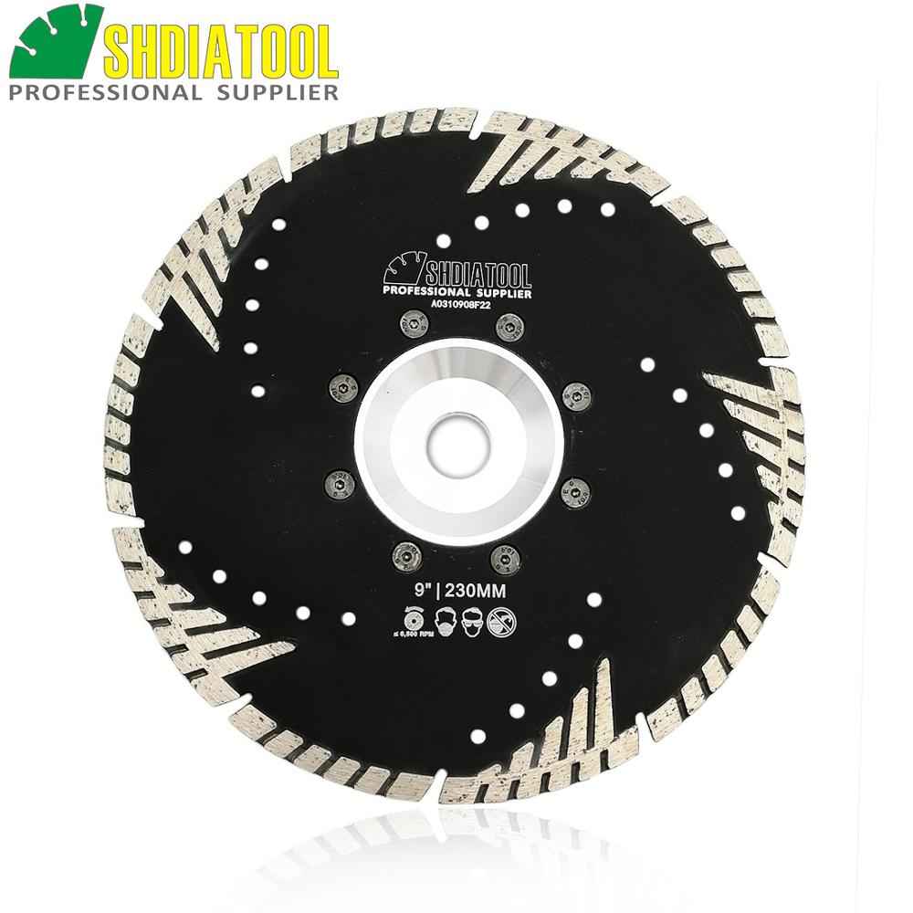 SHDIATOOL 230mm Hot Pressed Diamond Turbo Blade With Slant Protection Teeth 9