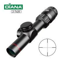 Mira telescópica para Rifle de 2-7x20 HD, mira de retícula Mil Dot, Rifle de alcance para francotirador, miras de caza, mira táctica, pistolas de aire Airsoft