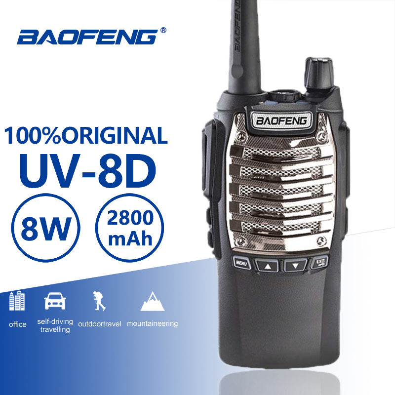 Baofeng UV-8d Walkie Talkie 10 KM Long Range 8W Free Headset Powerful Portable Two Way CB Radio UV 8D Professinal Woki Toki UV8D