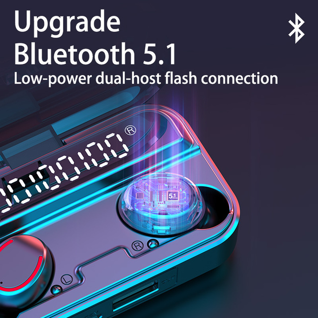Waterproof Wireless Headphones Bluetooth 5.1 Car Accessories Unisex color: Black|Blue|Red|White