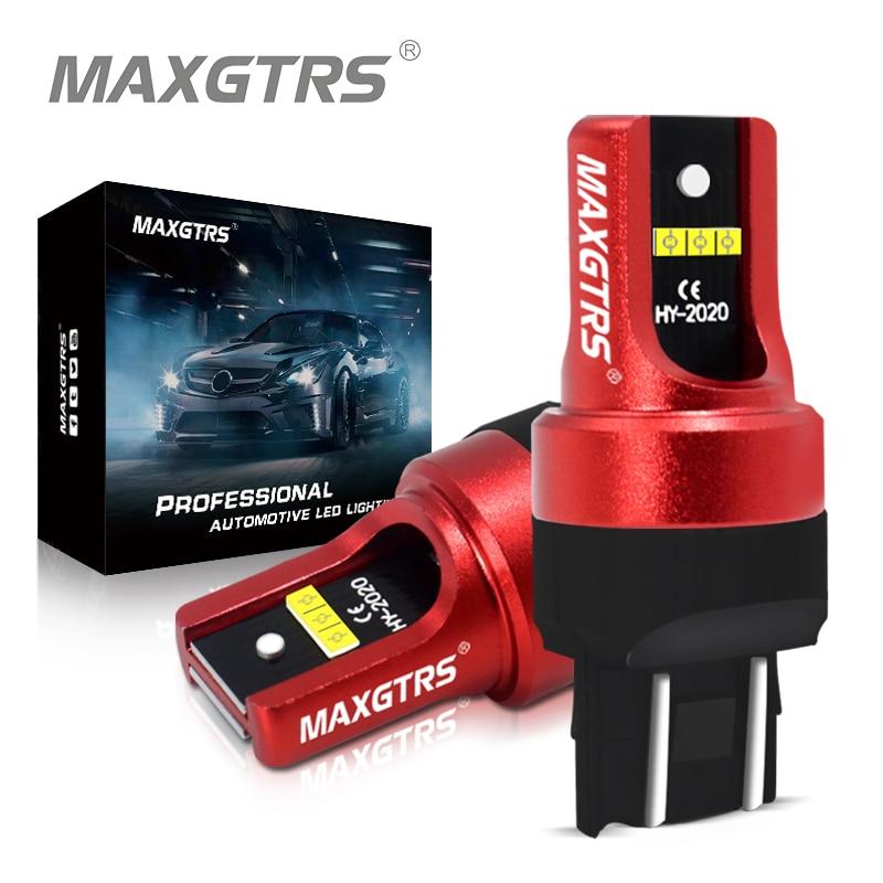 2x супер яркий 7443 7444 T20 W21/5W 1157 BAY15D P21/5W 3157 P27/7W светодиодный светильник DRL лампа задний тормоз резервная Стоп лампа CSP белый красный