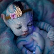 30/55 см Reborn Baby/платье для милой девочки одежда синего цвета для маленьких мальчиков Ночной светильник с хвостом реалистичные куклы новорожде...