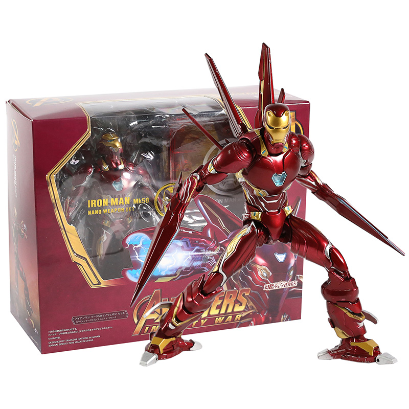 Avengers Infinity War Iron Man MK50 Nano Weapon Set PVC Action Figure Collectible Model Toy