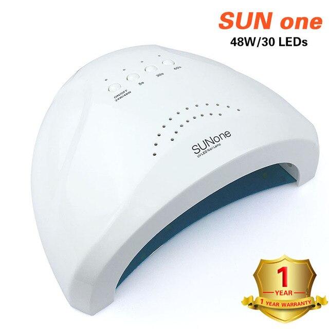 SUNone 48W UV LEDเล็บเล็บสำหรับเล็บเครื่องเป่าเล็บ30Pcsเล็บLedสำหรับบ่มUVเจลเล็บเคลือบเงาเล็บเครื่องมือArt