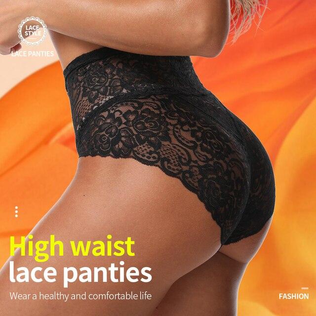 Full High Waist Lace Panties 4