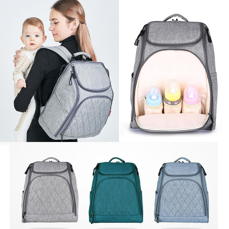Cotton And Linen Multi-function Mummy Bag Shoulders For-product Bag Backpack Maternal And Child Supplies Shoulder Diaper With Tr