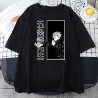 Japón Anime bien Jujutsu Kaisen T camisa Verano de 2021 gran oferta camiseta Harajuku suelto camiseta calle INS de moda mujer Camisetas