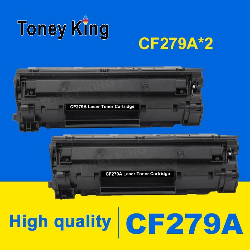 Toney King 2 pièces CF279A CF279 279 279A 79A Cartouche De Toner Compatible pour HP LaserJet Pro M12 M12a M12W M26 M26a M26nw