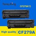 Toney rey 2 uds CF279A CF279 279 279A 79A cartucho de tóner Compatible para HP LaserJet Pro M12 M12a M12W M26 M26a M26nw