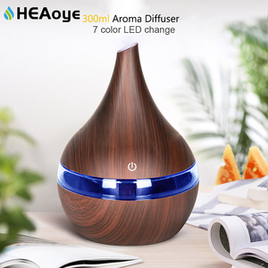 300ml USB Air humidifier Electric Aroma air diffuser wood Ultrasonic Essential oil Aromatherapy cool mist maker for home Car(China)