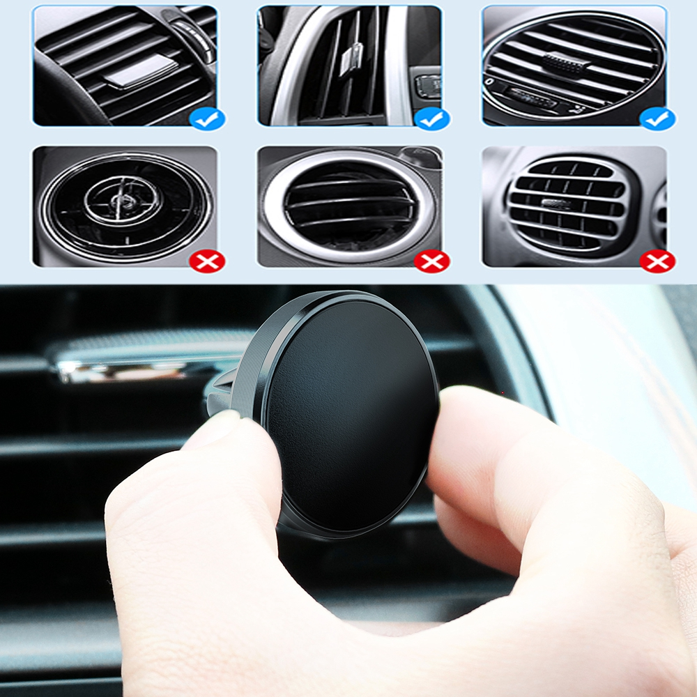Wholesale Magnetic Phone Holder For Samsung S8 Car Air Vent Mount Universal Mobile Smartphone Stand Magnet Support Cell Holder
