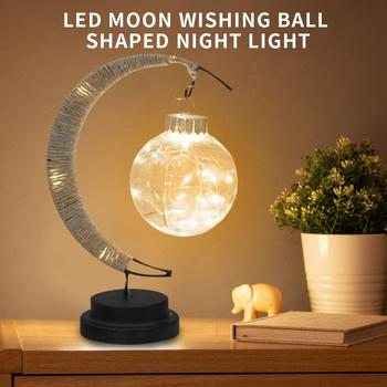 creative nordic christmas deer the merry go round dandelion moon lamp milky way a night light Home Decor Multicolor Perfect Gift Creative Moon Night Light LED Moon Light Moon Lamp Battery Gift