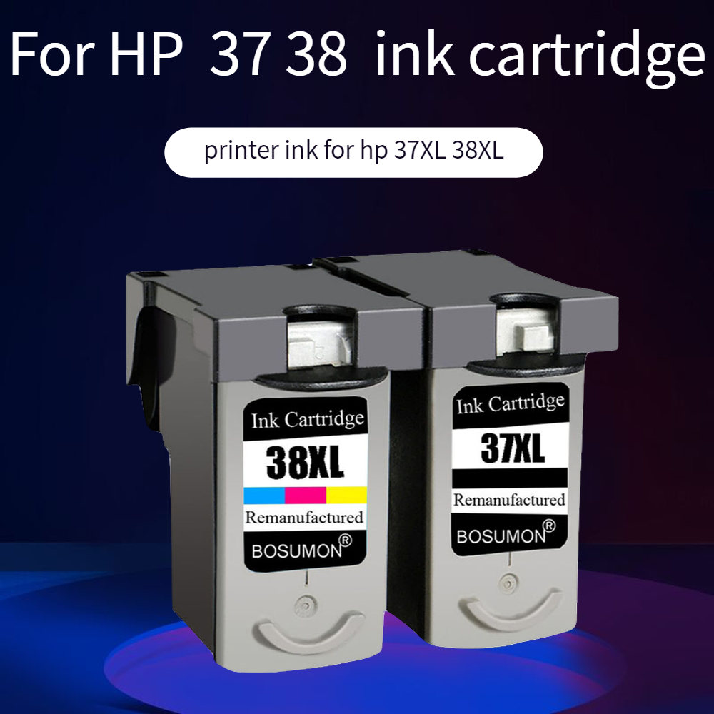 Bosumon PG37 CL38 Ink Cartridge for <font><b>Canon</b></font> <font><b>PG</b></font>-<font><b>37</b></font> CL-38 <font><b>PG</b></font> <font><b>37</b></font> PIXMA MP140 MP190 M210 MP220 MP420 IP1800 IP2600 MX300 MX310 printer image