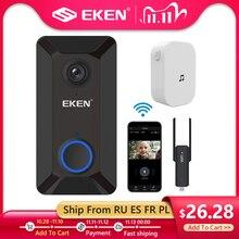 EKEN akıllı kablosuz Wifi Video kapı zili interkom telefon kapı zili kamerası kızılötesi uzaktan kayıt ev güvenlik izleme