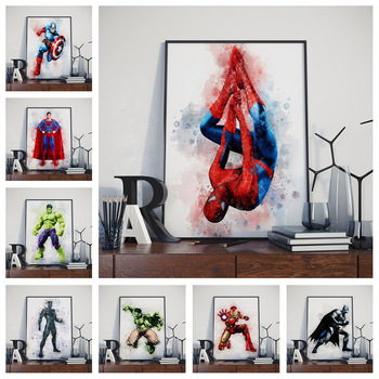 Superheroes Watercolor Poster (16 Different Designs) 1
