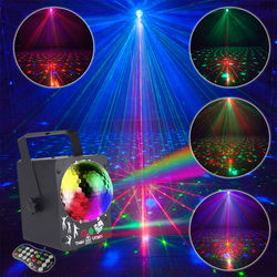 Nowy projektor laserowy 18W oświetlenie sceniczne led aktywowane dźwiękiem oświetlenie dyskotekowe kula świetlna projektor RGB oświetlenie imprezowe kolor światło sceniczne
