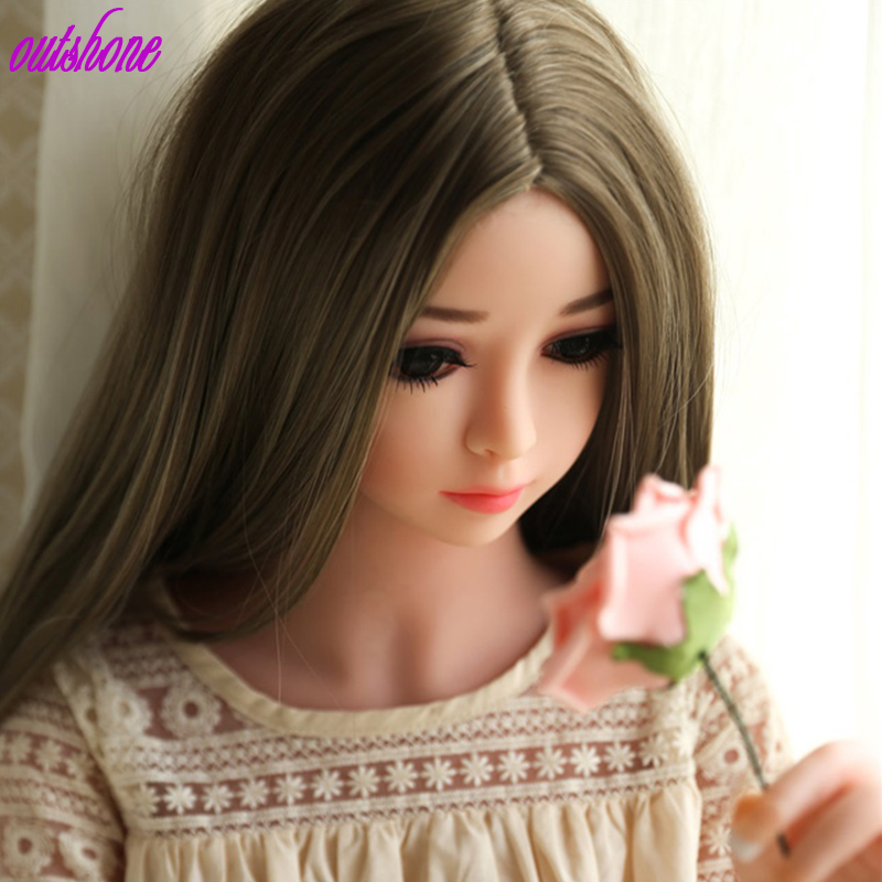Free shipping high quality small girl <font><b>sex</b></font> <font><b>doll</b></font> <font><b>100cm</b></font> flat chest <font><b>sex</b></font> <font><b>doll</b></font> for male image
