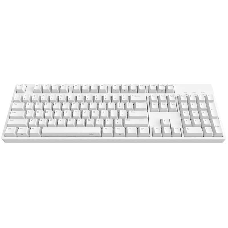 IKBC C104 لوحة المفاتيح الميكانيكية سميكة PBT keycap الكرز mx التبديل البني الأزرق كامل الحجم غير الخلفية لوحة المفاتيح الألعاب