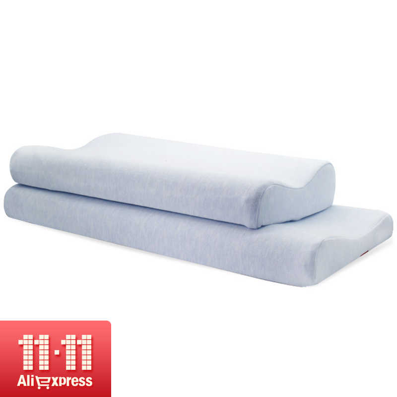 2019New Memory Foam Pillow Single Thin Soft Pillow Adult Ultra-thin Long Low Pillow Protection Cervical Health Worry-free Pillow