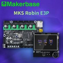 Makerbase mks robin e3p 32bit placa de controle com 3.5 tft tela peças impressora 3d plug and play para creality ender 3 CR-10