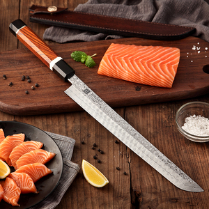 Image 5 - XINZUO 10.5 Sakimaru Knife 110 Layers Damascus Steel Sushi Sashimi Salmon Fish Filleting Kitchen Chef Knife Octagonal Handle