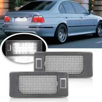 Error Free Auto Car Led License Number Plate Light White For BMW E60 E39 E82 E90 E92 E93 M3 E70 E71 X5 X6 E60 E61 M5 E88 фото