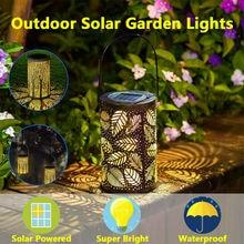 Водонепроницаемая уличная Солнечная лампа, полый свет, теплый свет, светодиодная Индукционная газонная садовая лампа, тип вилки, ночник