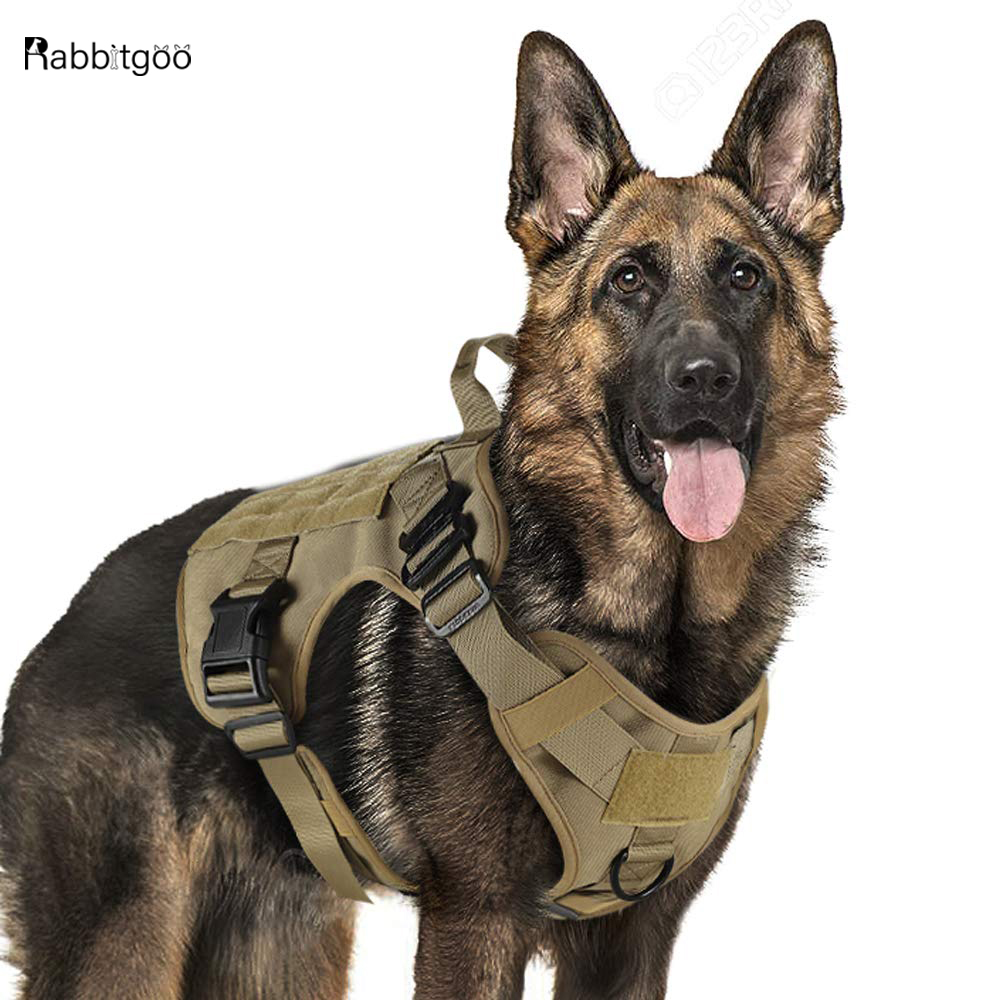 Tactical Dog Harness Military Service Dog Vest with Handle for  Training Adjustable Working K9 Dog Harness For Large Medium  DogsHarnesses