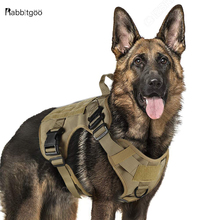 Tactical Dog Harness Military Service Vest with Handle for Training Adjustable Working K9 For Large Medium Dogs