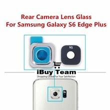 Стекло для объектива задней камеры для samsung Galaxy S6 Edge Plus задняя крышка для объектива камеры+ рамка для держателя для Galaxy S6 Edge+ запасные части