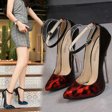 16CM Leopard Pointed Toe Shoes