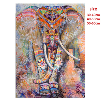 5D DIY Diamond Painting Full Round Drill Color Elephant Embroidery Cross Stitch Gift Home Decor Gift 2020