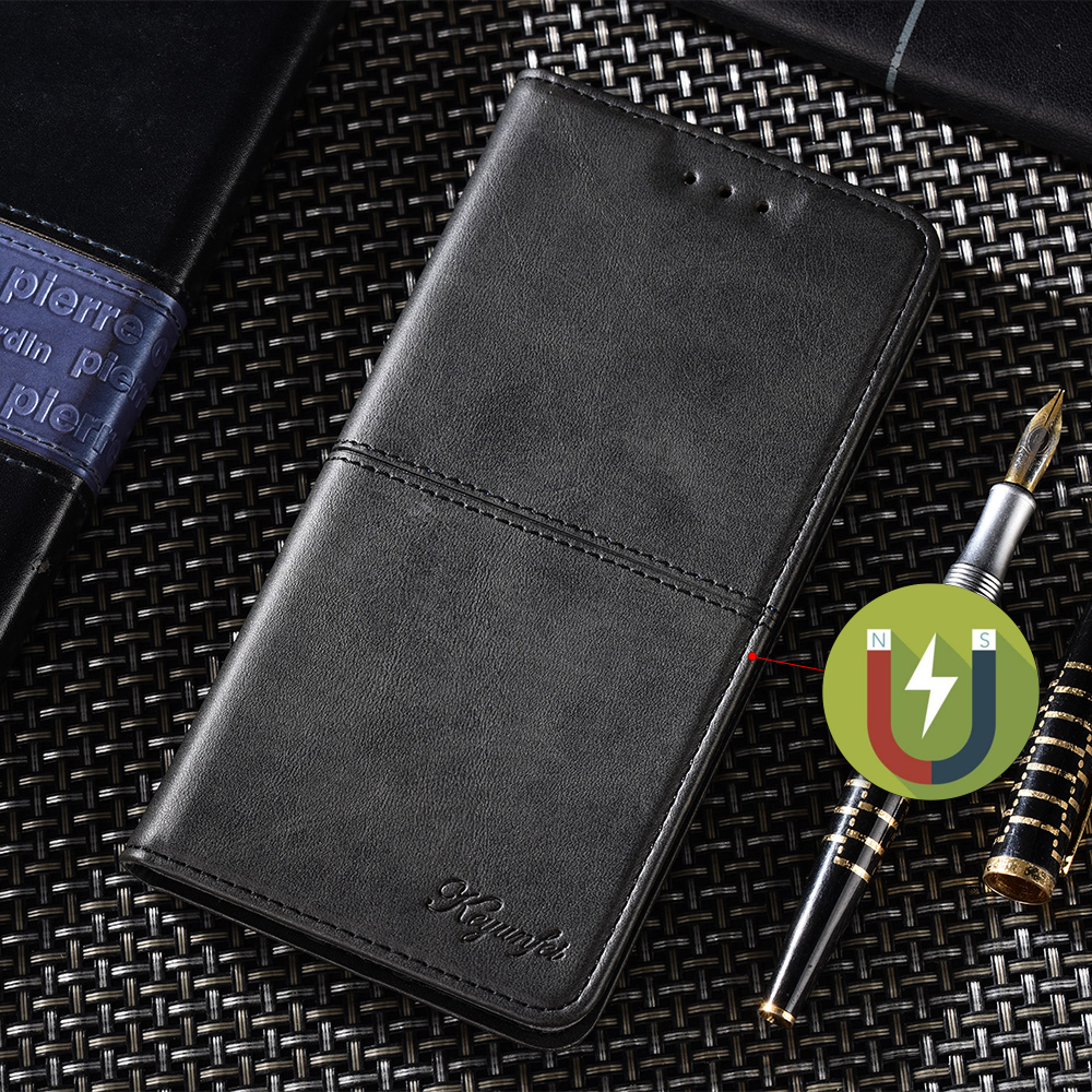 Negro FMPCUON Aplicar a Xiaomi RedMi Note 9,Flip Case Magn/ético Funda de Cuero PU Premium Folio Carcasa m/óviles Caso Libro para Xiaomi RedMi Note 9