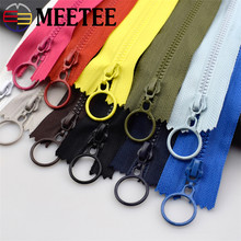 10pcs Meetee 3# Resin Zippers Closed 25cm Open-end 60cm Ring Puller Zipper for Bags Wallet Purse Garment Sewing Accessories