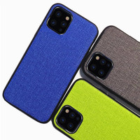 100Pcs/lot Case For iPhone 11 Pro Max 6 6s 7 8 plus X XR XS MAX Luxury fabric Business cover for iPhone11 case coque capas