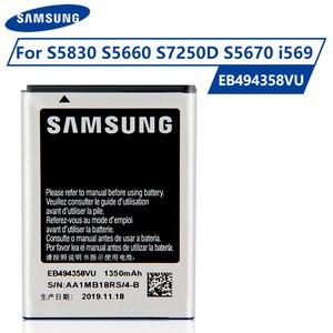 Original Samsung Battery EB494358VU For Samsung Galaxy Ace S5830 S5660 S7250D S5670 i569 Genuine Phone Batteries 1350mAh