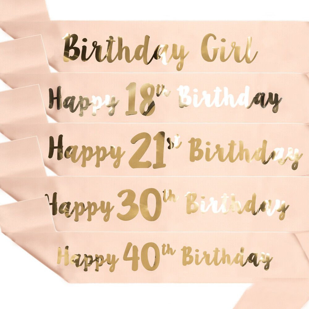 Happy Birthday Funny Sash 18/21/30/40/50/60 Birthday Girl For Women Party Decoration Supplies Mom Favor Gifts Ribbons Sashes