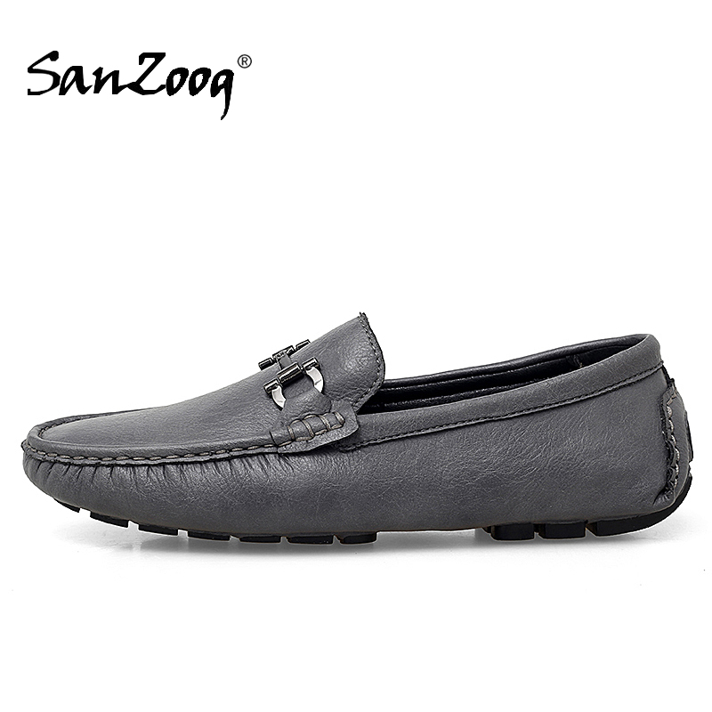 Slip-on Men Loafers Shoes Leather Mocasines Hombre Moccasins Lofer Shoes Man Casual Mens Shoe Loafer Driving Loffers Big Size