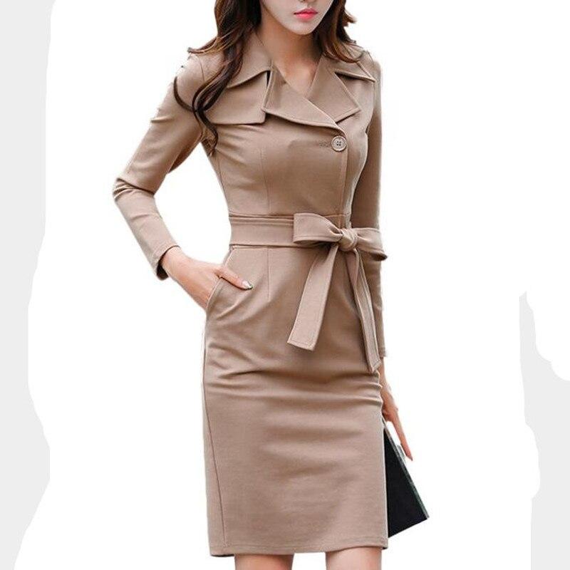 Women Dress Suits Single Breasted Bow Tie OL Office Lady Work Business Wear Pencil Dress Elegant Outfit Set 2019 Plus Size XXXL