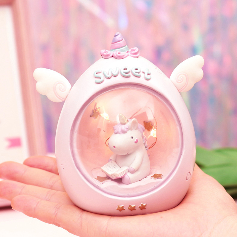 Unicorn Crystal Ball LED Decor Novetly Light Cartoon Unicorn Lamps Baby Nursery Toy Christmas  Valentine's Day Birthday Gift