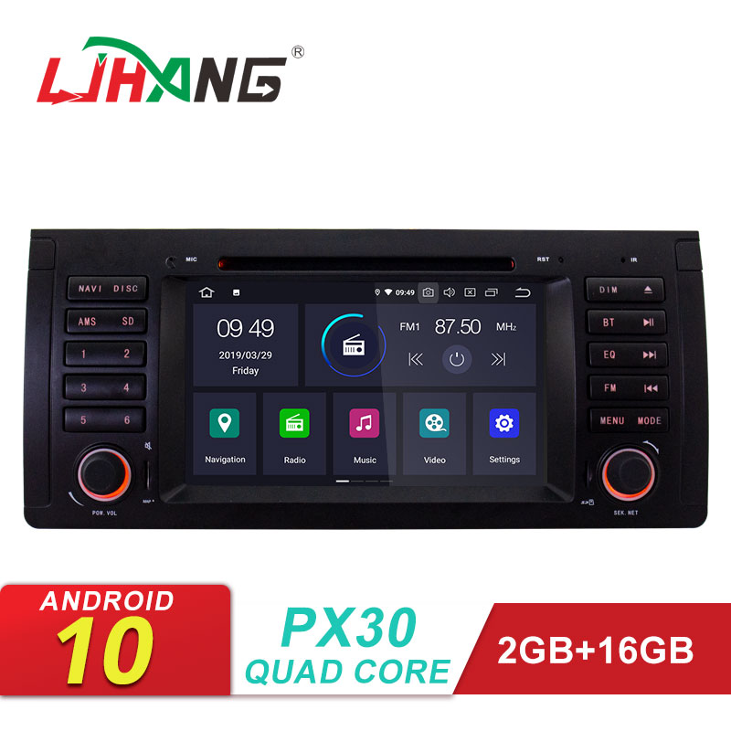 LJHANG IPS Car DVD Player Android 10 for <font><b>BMW</b></font> E39 X5 M5 <font><b>E38</b></font> E53 GPS Navigation 1 Din Car <font><b>Radio</b></font> Multimedia Autoaudio Stereo Video image